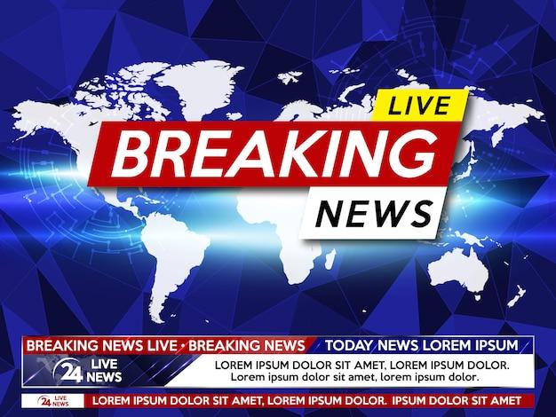 Protetor de tela em notícias de última hora.