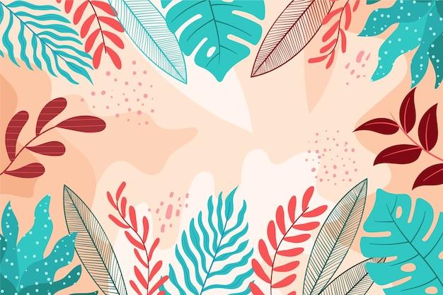 Protetor de tela floral abstrato plano