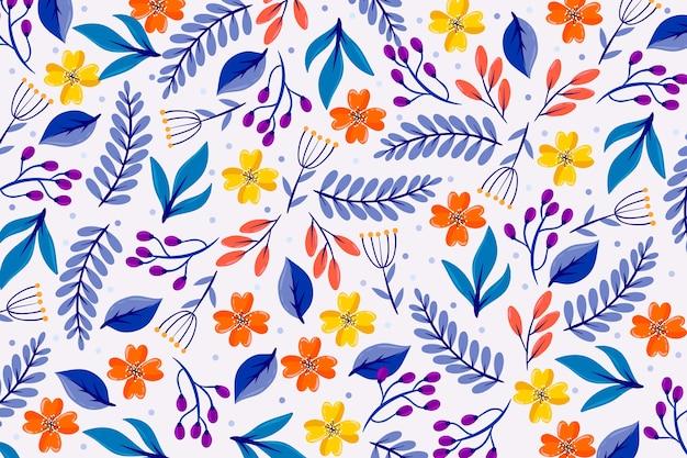 Protetor de tela floral servindo colorido