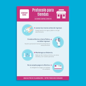 Protocolo de coronavírus para pôster comercial