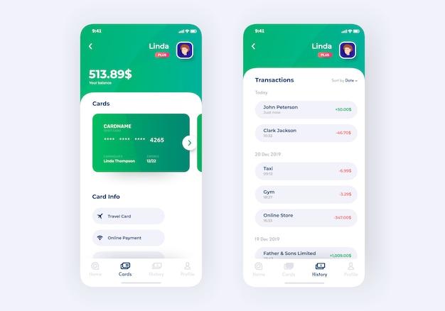 Protótipo do kit de interface do usuário do aplicativo bancário