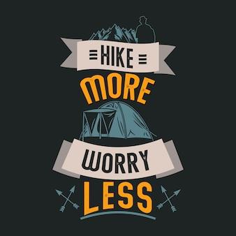 Provérbios e citações de acampamento. haking provérbios e citações