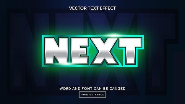 Próximo modelo de efeito de texto editável