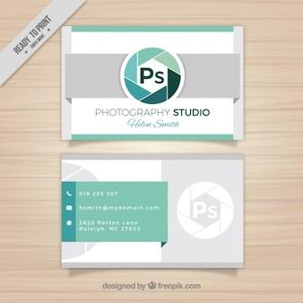 Ps cartão de visita do logotipo