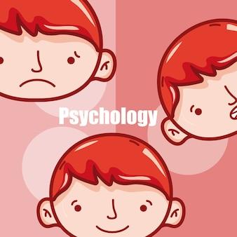 Psicologia para desenhos de menino vector design gráfico ilustração