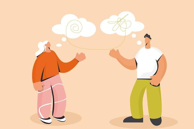 Psicólogo e cliente comunicam desvendar situações complexas