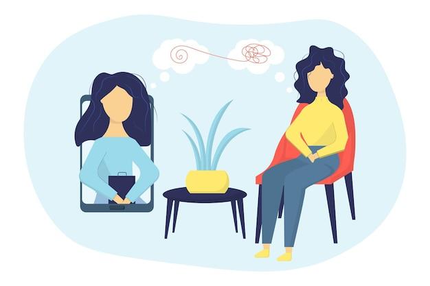 Psicoterapia online serviço de psicólogo online aconselhamento privado prática de psicoterapia