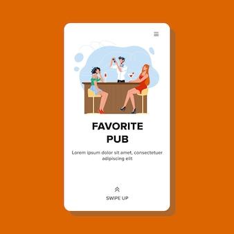 Pub favorito para drinks deliciosos coquetéis