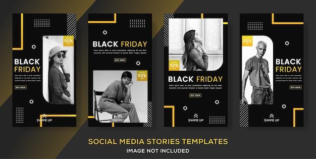 Publicação de histórias de banner de moda sexta-feira negra.