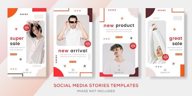 Publicação de histórias de banners de moda em promoção