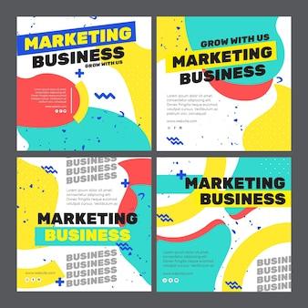 Publicação de instagram de negócios de marketing