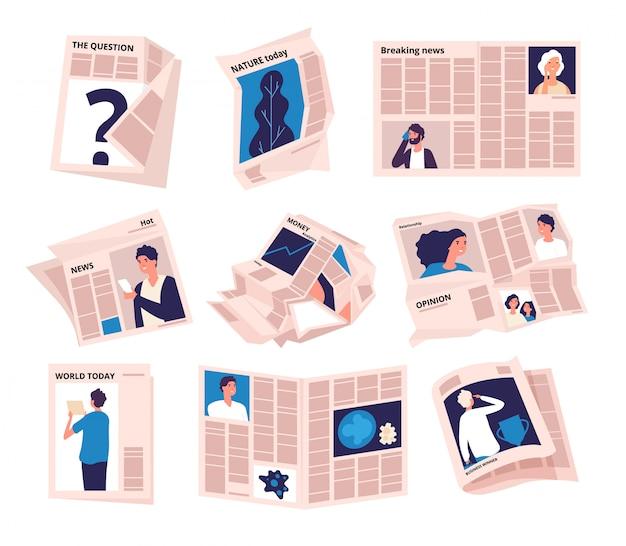 Publicação de notícias de tabloide moderna