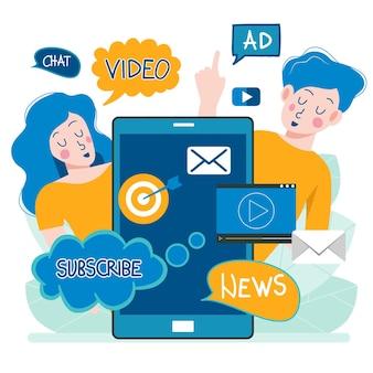 Publicação de notícias distribuída regularmente por e-mail