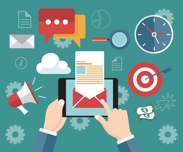 Publicação de notícias distribuídas regularmente via e-mail