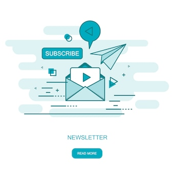 Publicação de notícias regularmente distribuída via e-mail