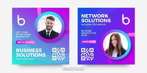 Publicação de soluções de negócios em mídia social