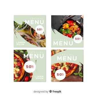 Publicações de fotos culinárias do instagram