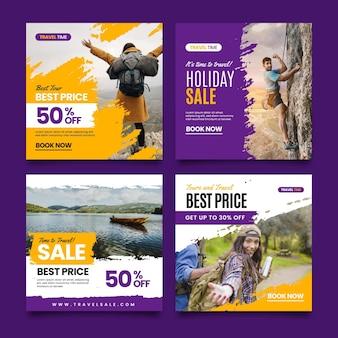 Publicações do instagram para vendas de viagens