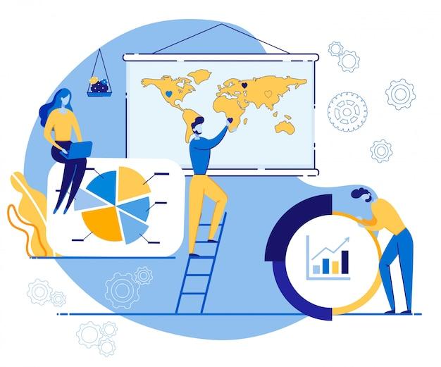 Publicidade banner equity em desenhos animados de negócios