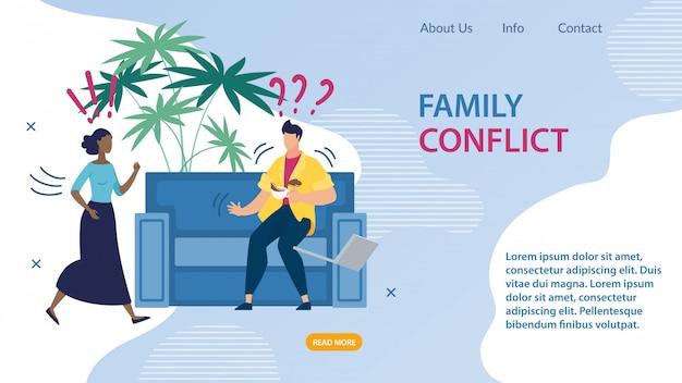 Publicidade banner inscrição conflito familiar.