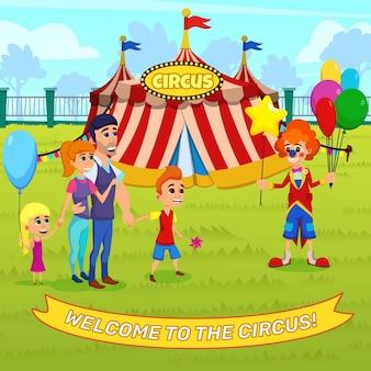 Publicidade bem-vindo ao circo