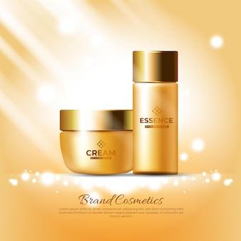 Publicidade de cosméticos com cosméticos de luxo
