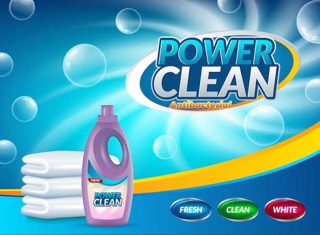 Publicidade de detergente em pó