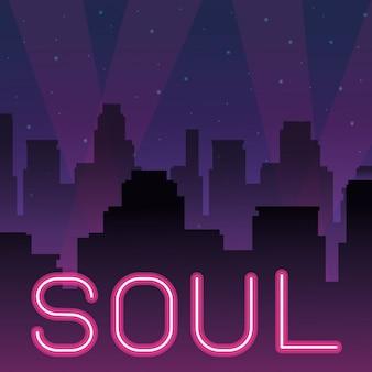 Publicidade de néon de alma