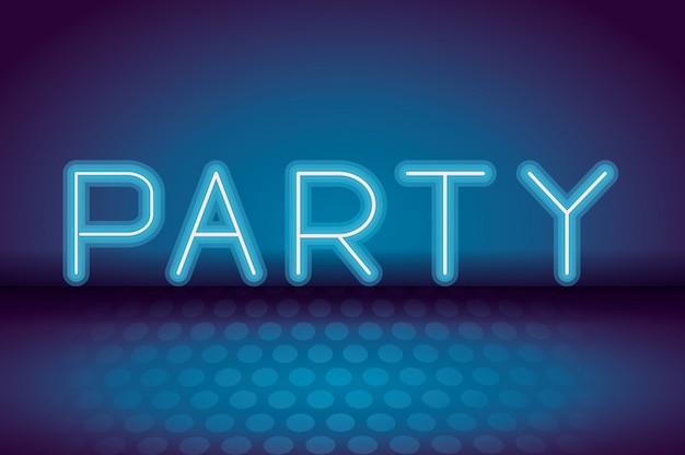 Publicidade de néon do partido