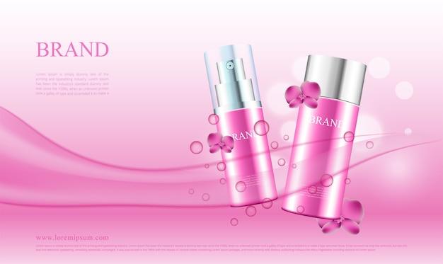 Publicidade de produtos cosméticos com orquídeas
