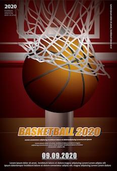 Publicidade em pôster de basquete
