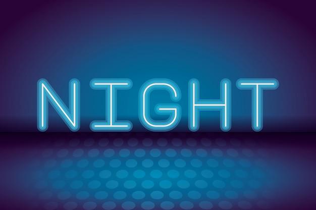 Publicidade néon da noite