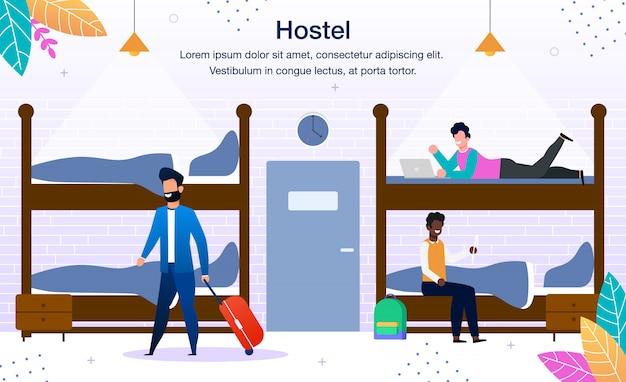 Publicidade no dormitório do hostel