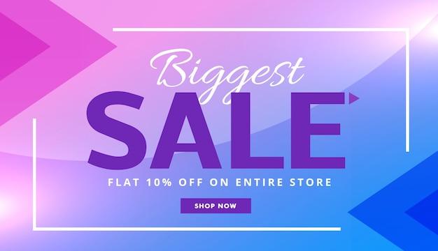 Publicidade venda design roxo à moda bandeira comprovante vector