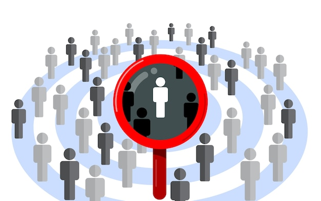 Público-alvo, foco no cliente. dardo e armazenar conceito de vector design plano isolado