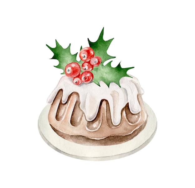 Pudim de natal. sobremesa de ano novo