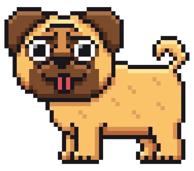 Pug de cão dos desenhos animados