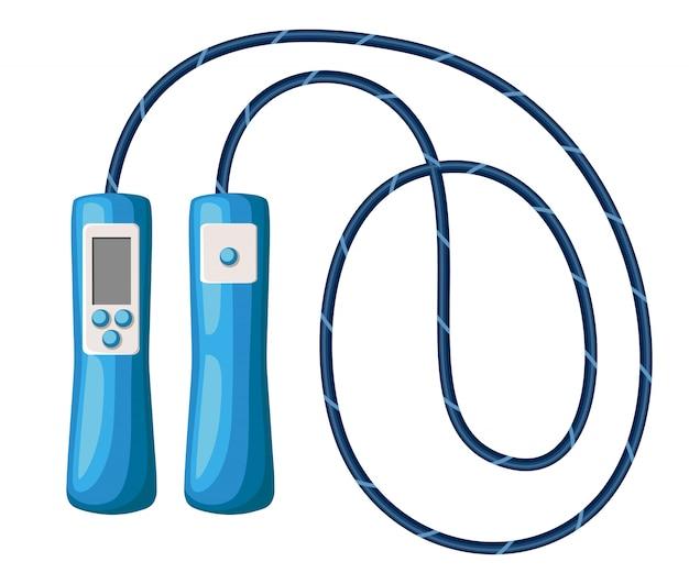 Pular corda, pular corda na página branca do site e aplicativo móvel em branco. equipamento esportivo.