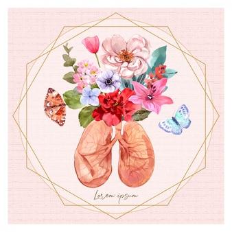 Pulmões e flores na minha vida.