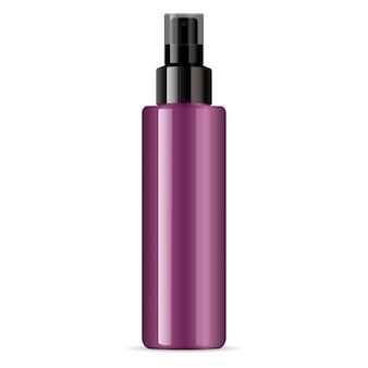 Pulverizador de dispensador de garrafa de vidro brilhante cosmético preto