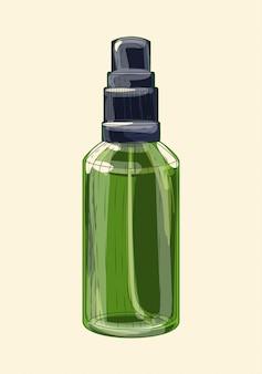 Pulverizador de vidro verde medicinal