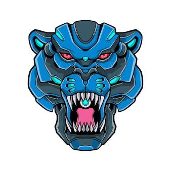 Puma tiger logo mecha concept ilustração