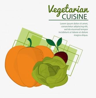 Pumkin alface beterraba cozinha vegetariana natural fresca