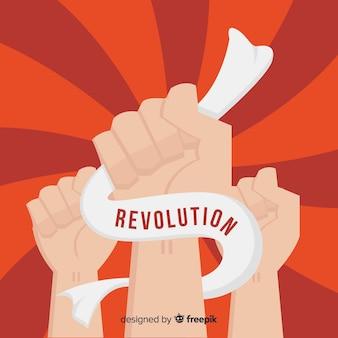 Punho levantado para a revolução