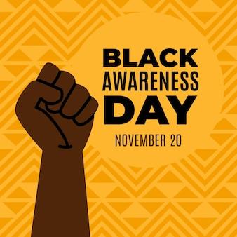 Punho no ar dia da consciência negra