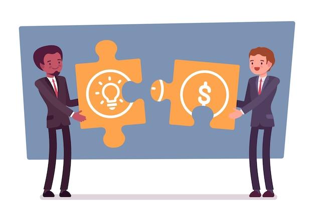 Puzzle de ideia e dinheiro