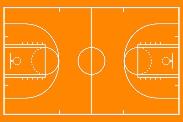 Quadra de basquete. campo de plano de fundo de maquete para estratégia de esporte. ilustração vetorial.