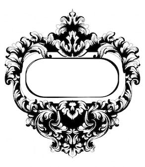 Quadrado de moldura de espelho barroco