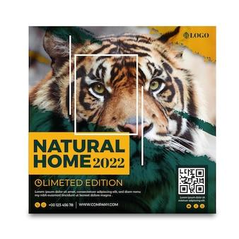 Quadrado de panfleto de natureza selvagem
