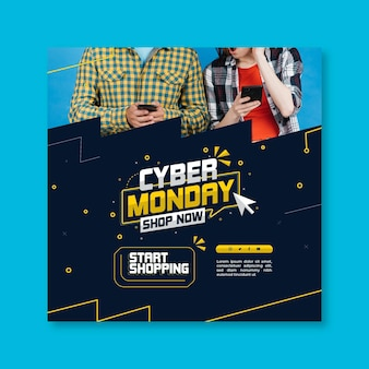 Quadrado do flyer da cyber monday